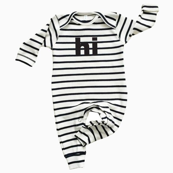 Baby Breton Striped Organic Cotton 'Hi' Footie
