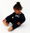 Baby Navy Blue Organic Cotton 'Bowtie' Sweatshirt