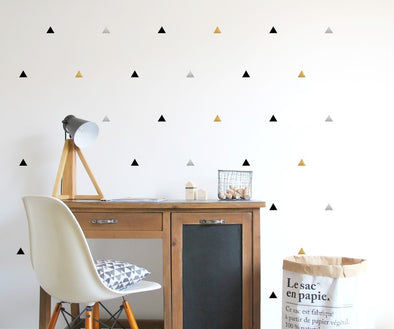 Black & Metalic Triangle Wall Sticker
