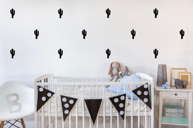 Black Cactus Wall Sticker