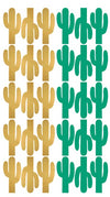 Green & Gold Cactus Wall Sticker