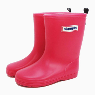 Classic Pink Stample Rain Boots