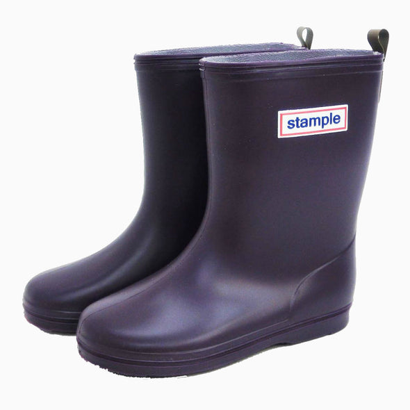 Classic Purple Stample Rain Boots