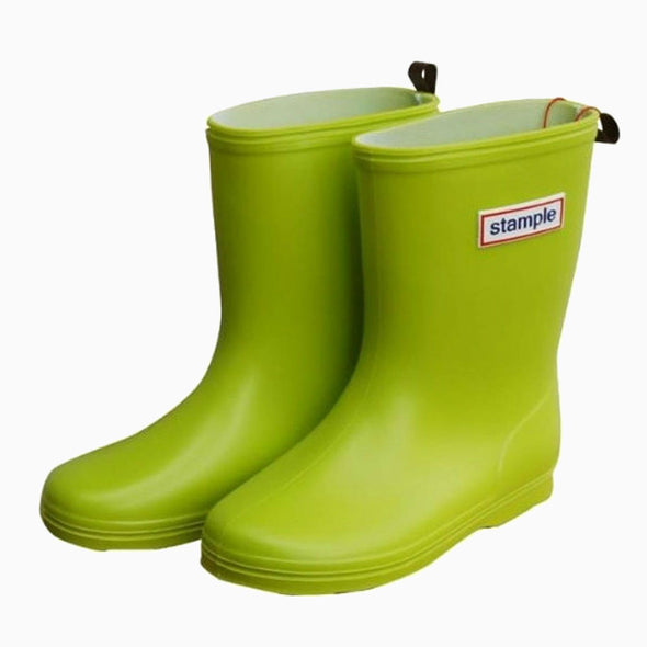 Classic Lime Stample Rain Boots