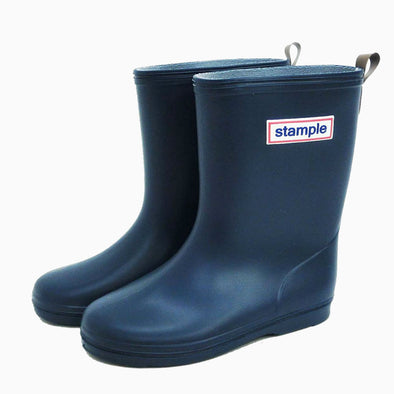 Classic Navy Stample Rain Boots