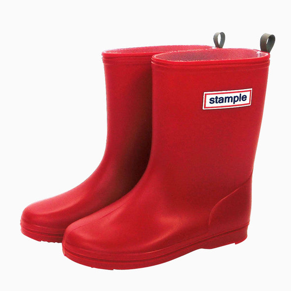 Classic Red Stample Rain Boots