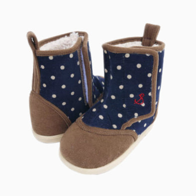 Baby Navy Blue Dotted Boots