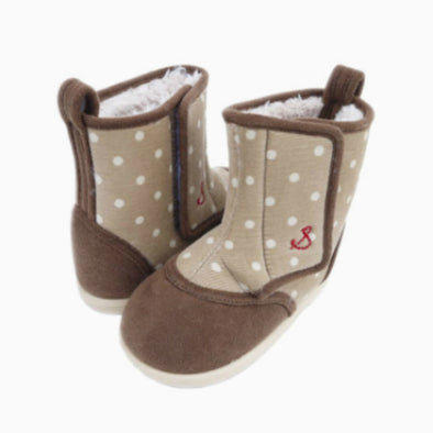 Baby Beige Dotted Boots