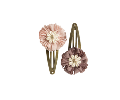 Dusty Mini Flower Hair Clips (2 pcs.)