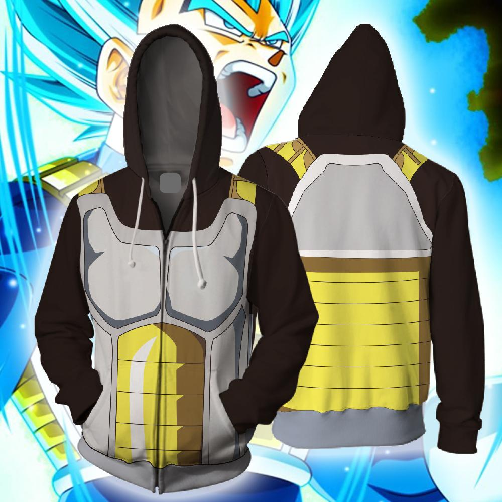 Vegeta Battle Armour Hoodie - Black