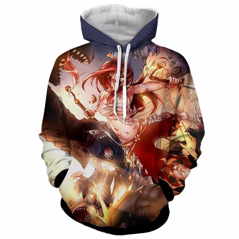 Erza Battle Hoodie - Fairy Tail