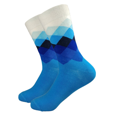 Mens Socks, Colorful Socks, Dress Socks, Blue Dress Socks