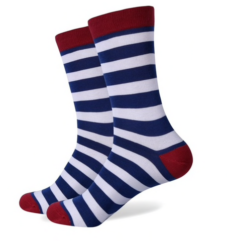Striped Socks, Fun Socks, Mens Socks, Dress socks, Socks