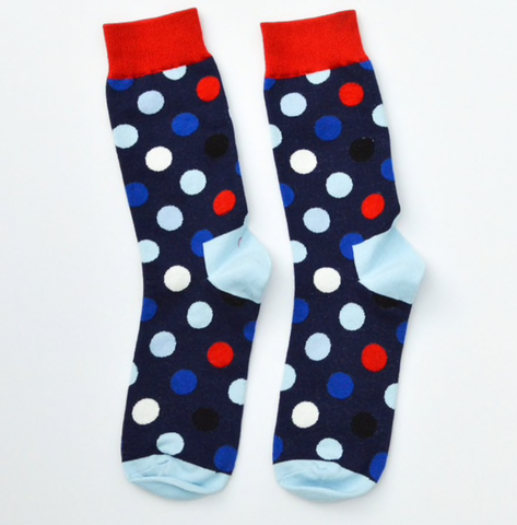Polka Dot Socks, Mens Funky socks, Fun Socks, Dot Socks