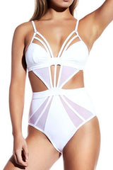 Strappy Cutout Monokini One-piece Swimsuit