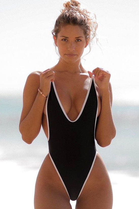High Leg Monokini One Piece Swimsuit