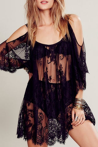 Cold Shoulder Cover Up Dress