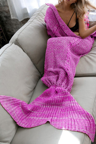 Soft Crochet Mermaid Blanket