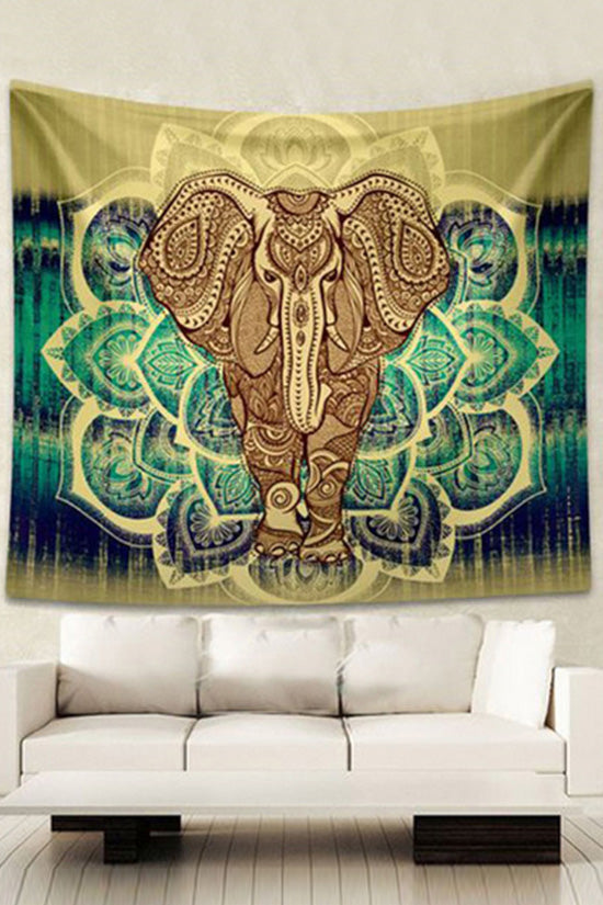 Yellow Elephant Beach Towel