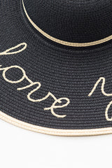 Embroidered Beach Sun Hat