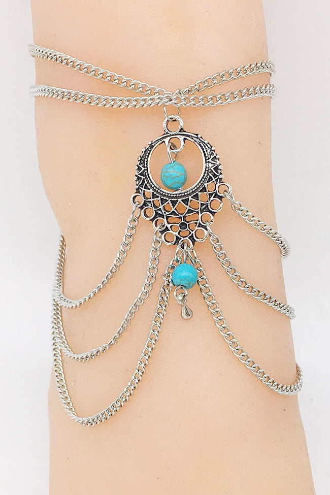 Silver Bohemian Anklet Chain