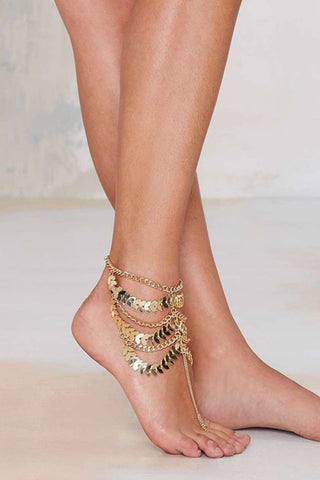 Gold Boho Anklet Chain