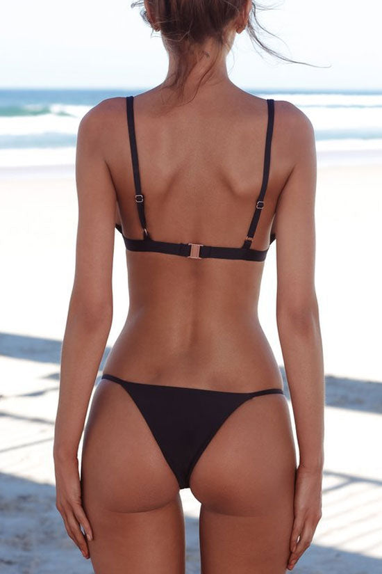 Sexy Triangle String Brazilian Bikini Swimsuit - Two Piece Set