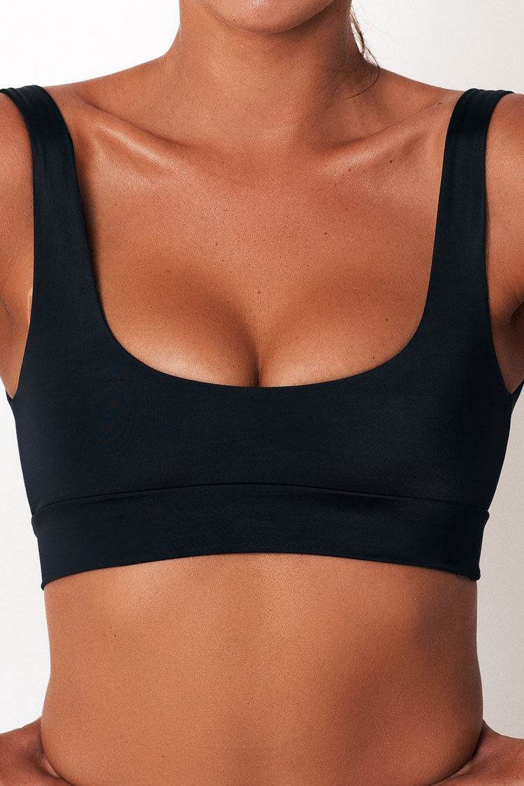 Sport Scoop Neck Bikini Top