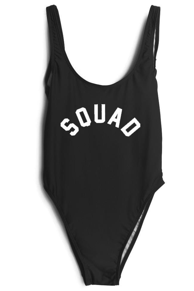 SQUAD - Slogan One Piece Swimsuit