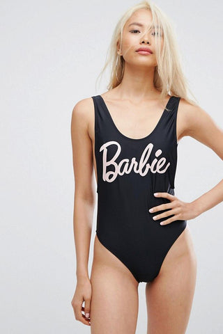 BARBIE - Slogan One Piece Swimsuit