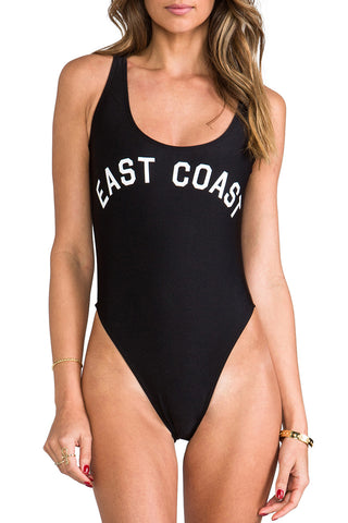 EAST COAST - Slogan One Piece Swimsuit