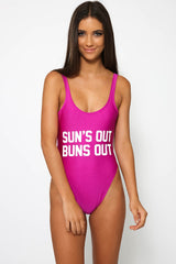 SUNS OUT BUNS OUT - Slogan One Piece Swimsuit