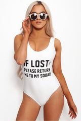 IF LOST PLEASE RETURN ME TO MY SQUAD - Slogan One Piece Swimsuit