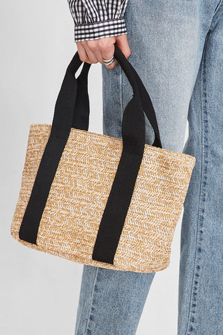 Beach Casual Woven Straw Basket bag