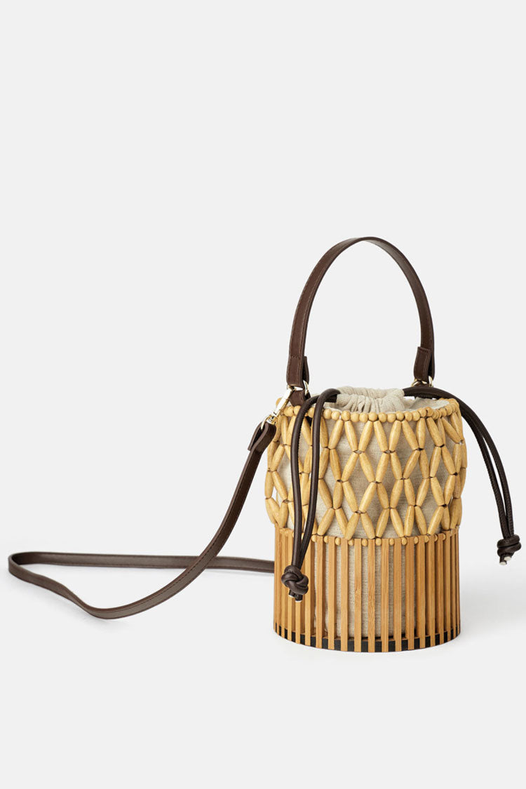 Beach Natural Handmade Bamboo Basket Bag