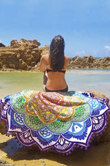 Blooming Flower Pompon Fluffy Beach Towel