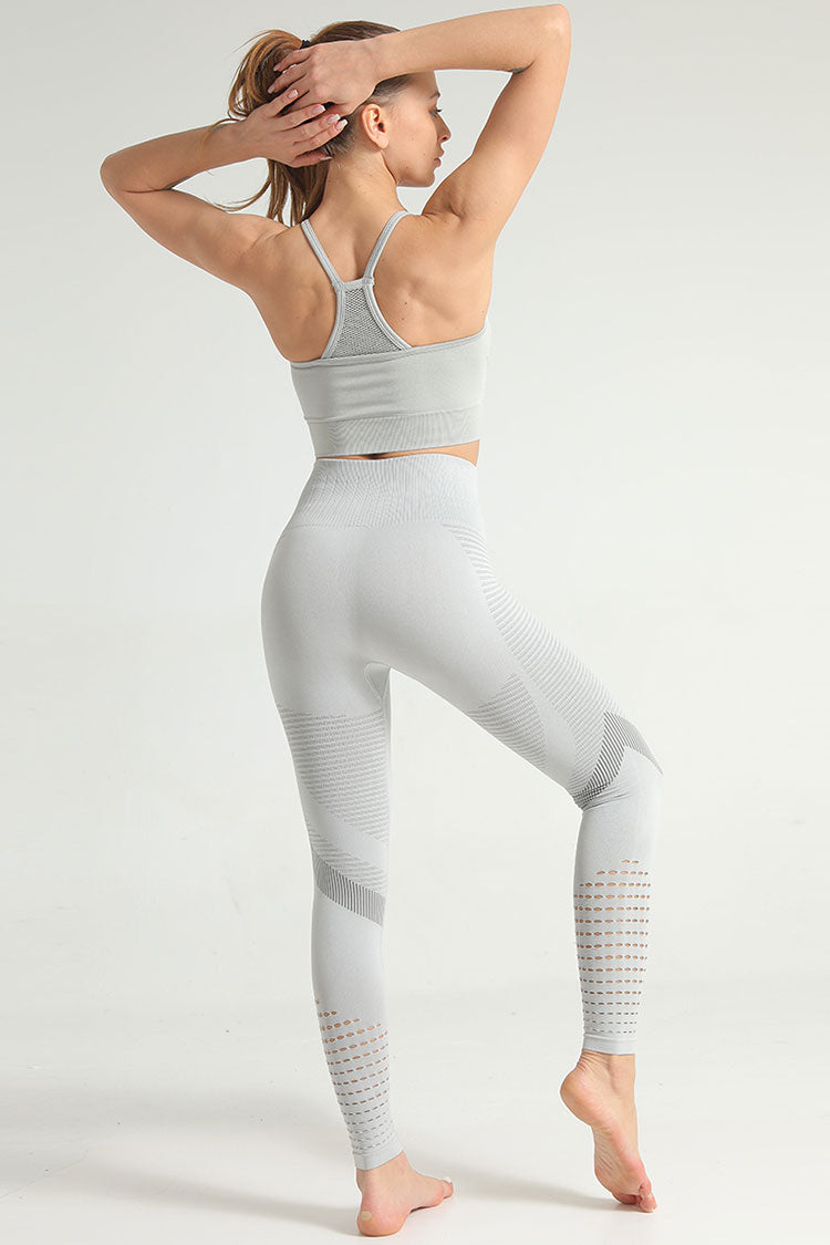 Breathable High Waist High Neck Seamless Sports Set