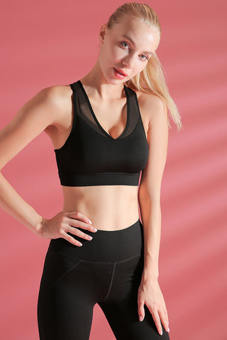 Breathable Mesh Racerback Sports Bra