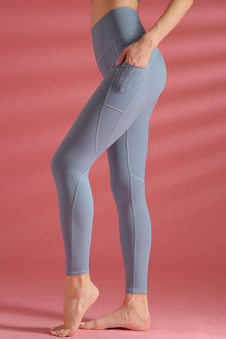 Breathable Side Pocket High Waist Yoga Workout Leggings