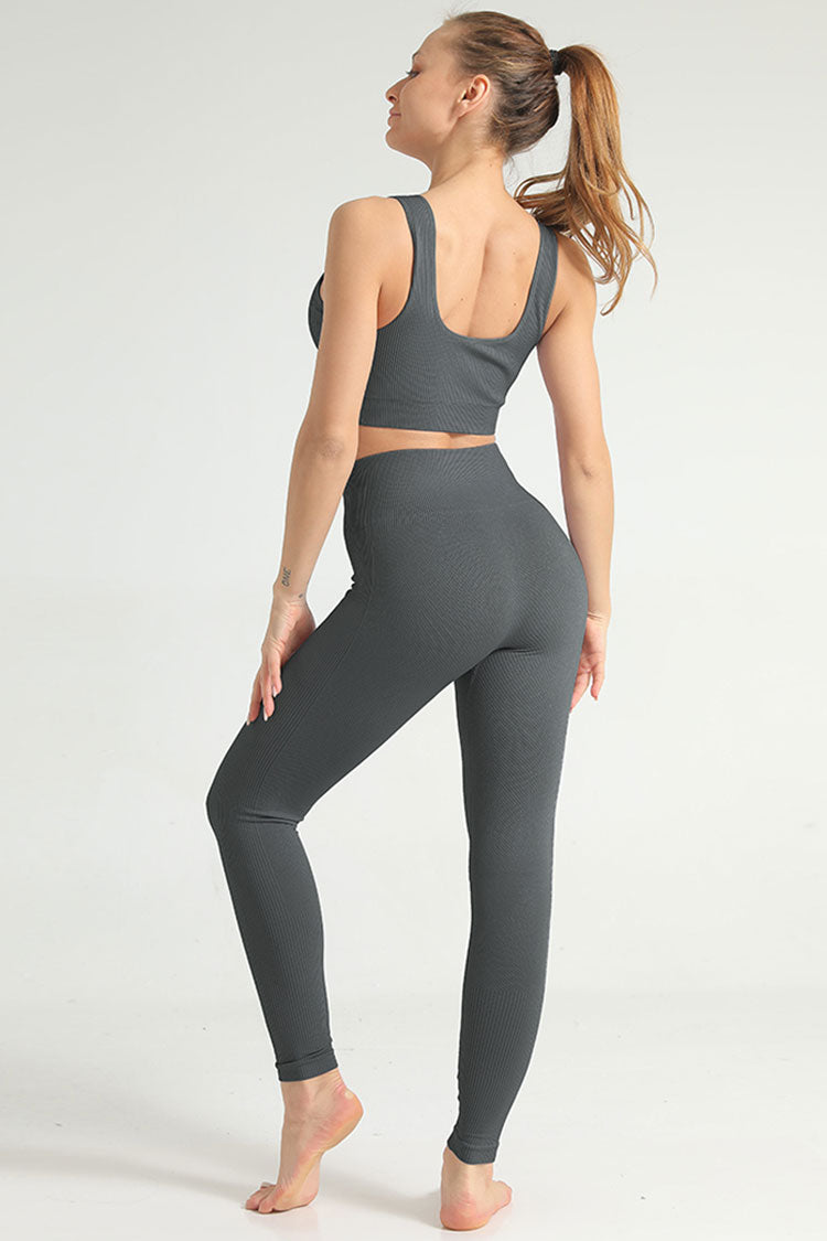 Cozy High Waist Ribbed Seamless Sports Set