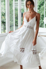 Exquisite Crochet Single-Breasted V Neck Cover Up