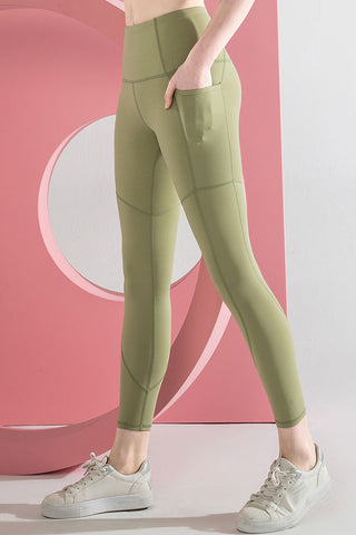 Pocket Naked High Waisted Sculpt Yoga Workout Leggings