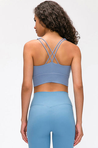 Seamless High Impact Cross Back Sports Bra