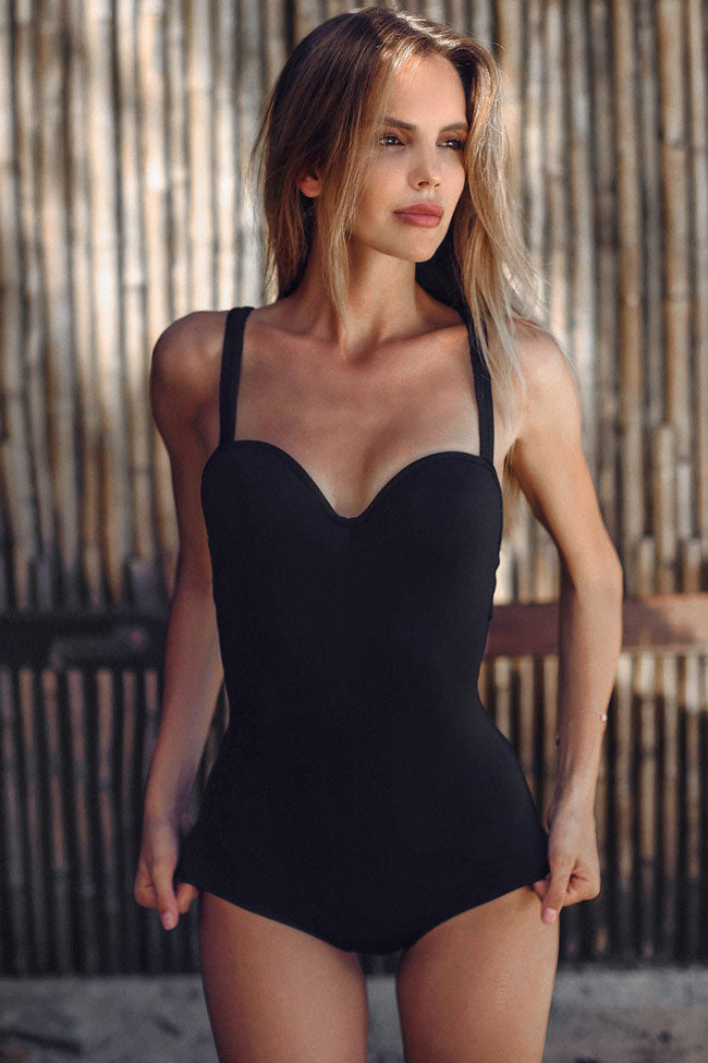 Sexy Sweetheart Push Up Underwire One Piece Swimsuit