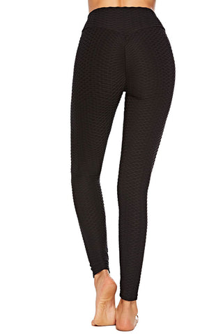 Textured High Waisted Ruched Yoga Workout Leggings