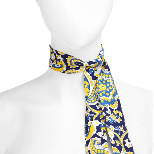 Blue & Yellow Paisley