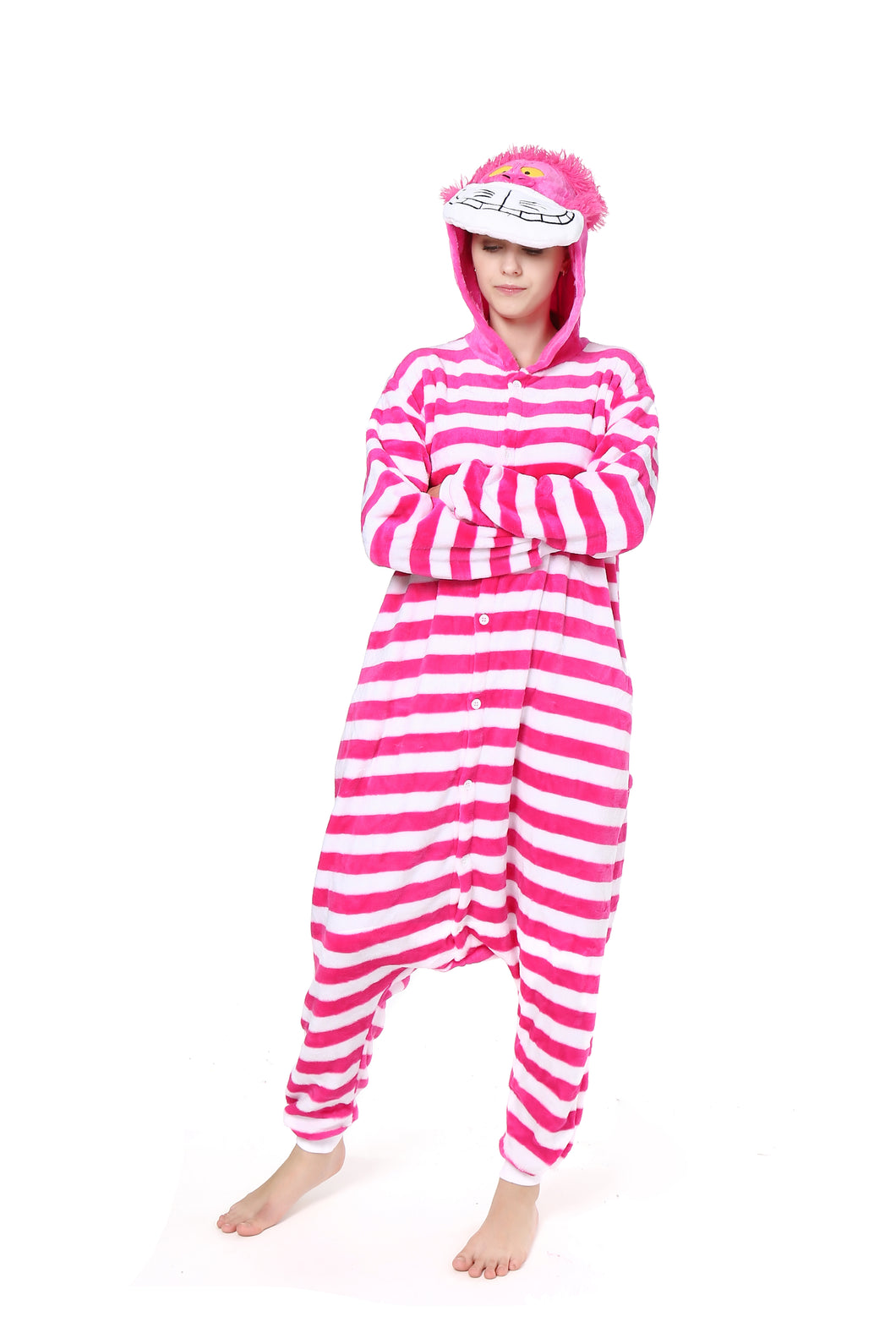 Cheshire Cat Onesie Costume Unisex Adult Animals Cheshire Cat Pajamas Cosplay