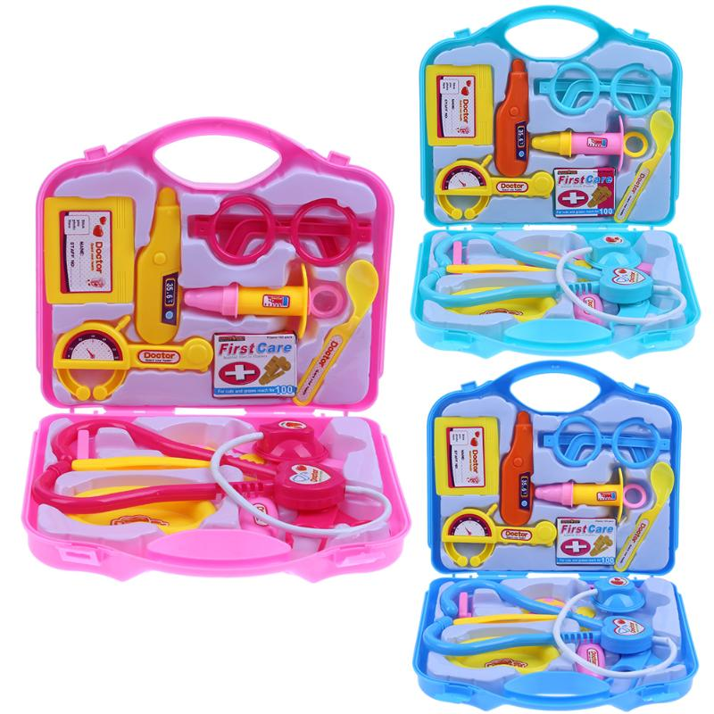 15pcs Children Pretend Play Doctor Nurse Toy Set Portable Suitcase Medical Kit Kids Educational Role Play Classic Toys