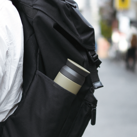 Kinto Travel Tumbler backpack from Filter - Lifestyle Image