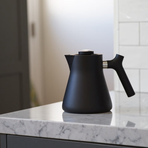 Fellow Raven Kettle black counter from Filter - Lifestyle Image